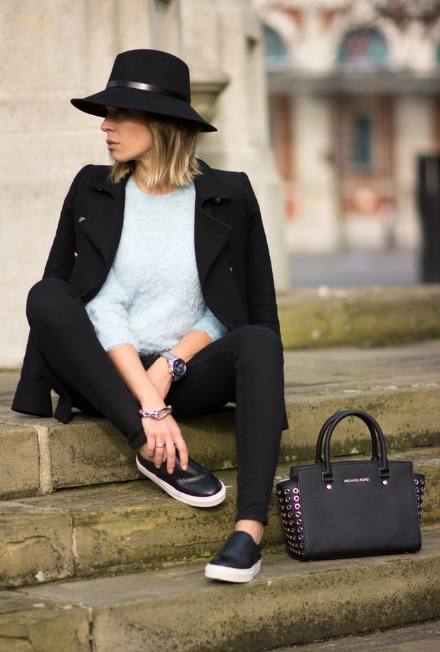 Cool Black Outfit with Slip-on Shoes