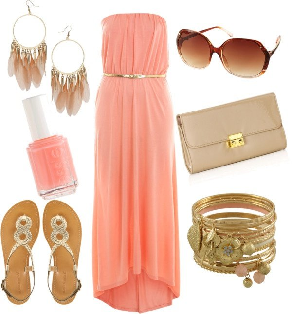 creative coral dress outfit size