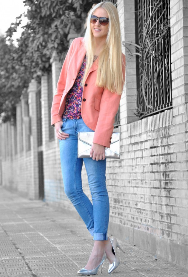 Coral Outfit Ideas - Coral Blazer