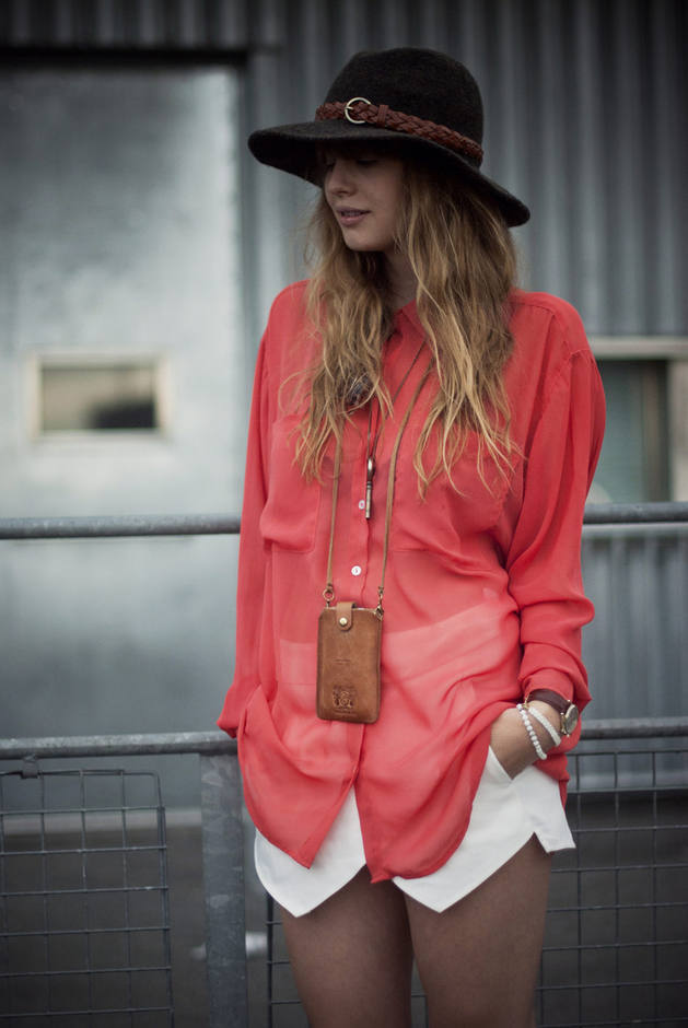 Coral Outfit Ideas - Coral Blouse