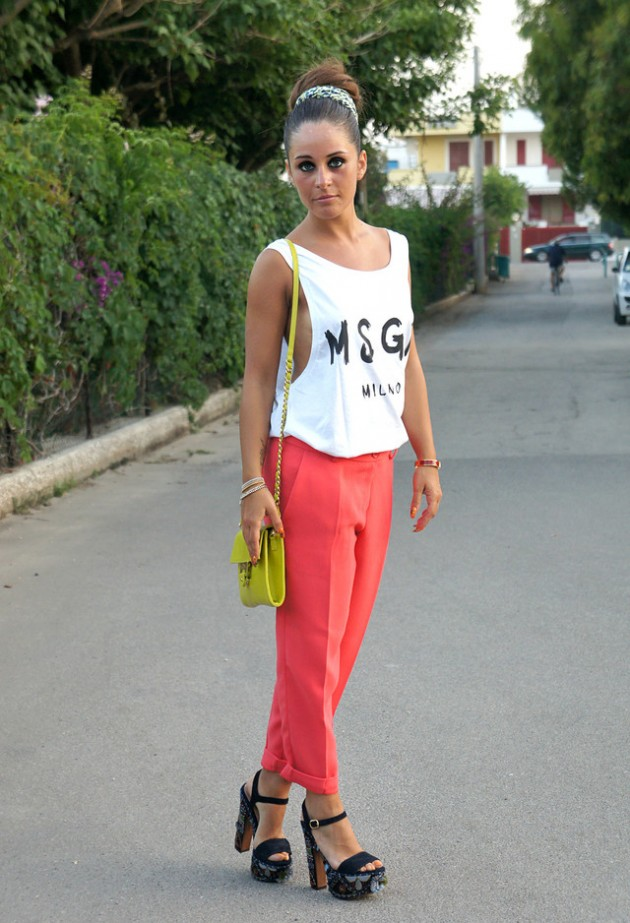 Coral Outfit Ideas - Coral Pants