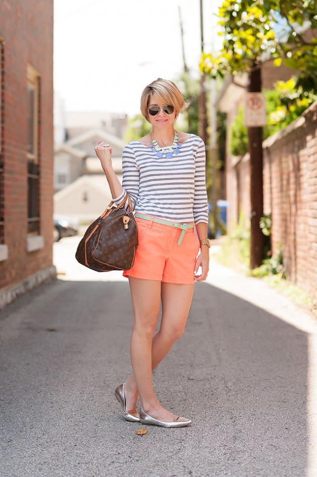 Coral Outfit Ideas - Coral Shorts