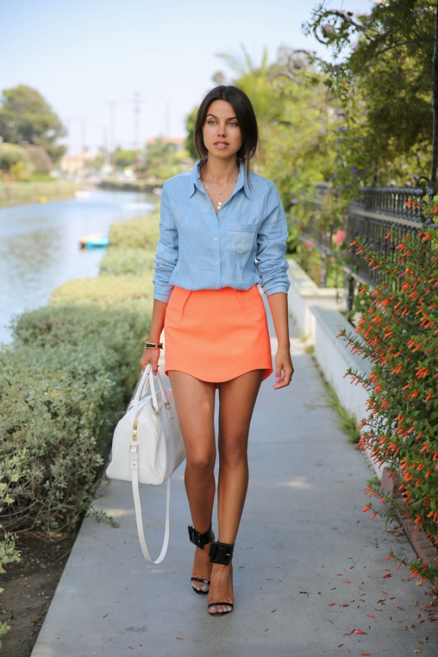 Coral Outfit Ideas - Coral Skirt