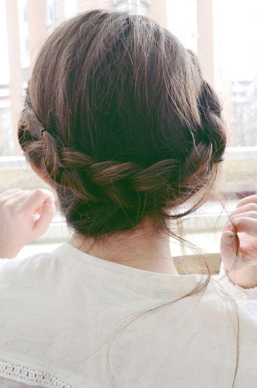 Crown Braid for Brown Hair
