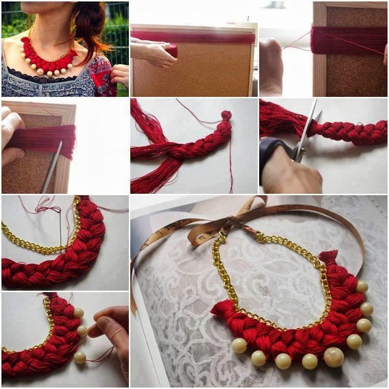 DIY Braided Necklace Tutorial