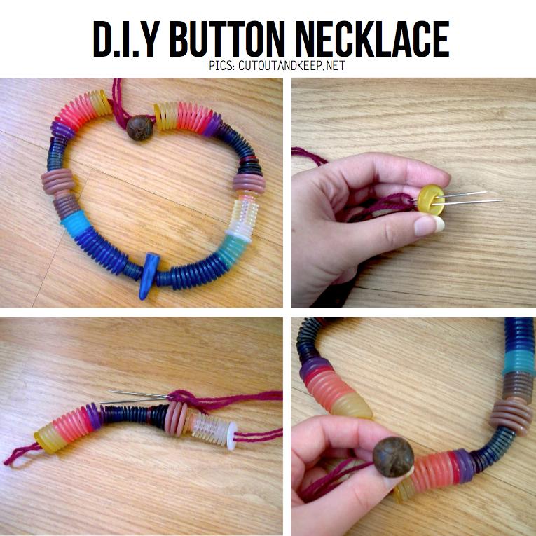 DIY Button Necklace Tutorial