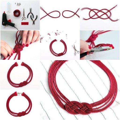 DIY Cord Necklace Tutorial