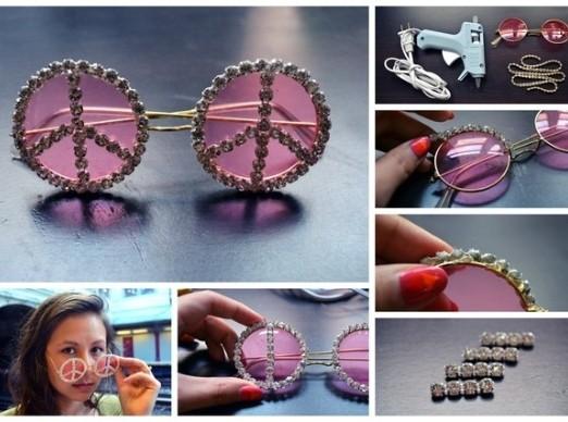 DIY Embellished Sunglasses With Diamonds