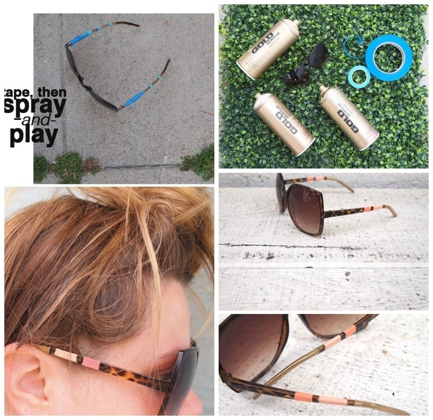 DIY Embellished Sunglasses With Spray