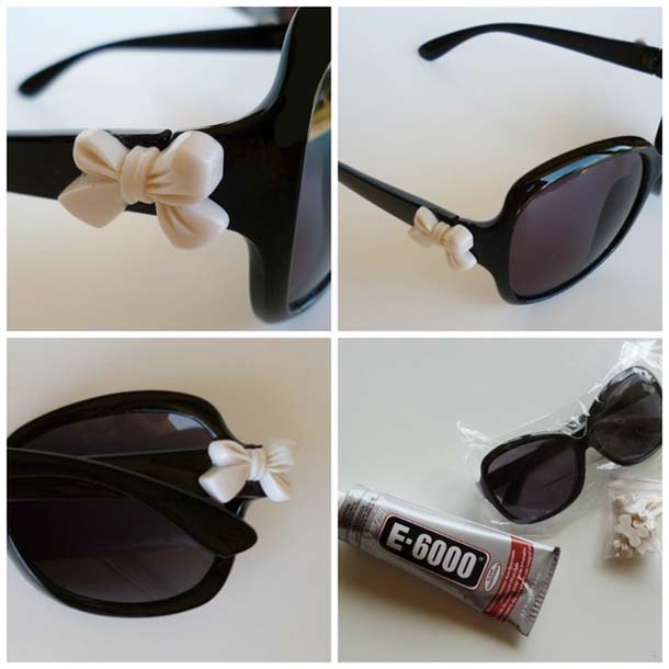 DIY Embellished Sunglasses With a Bow