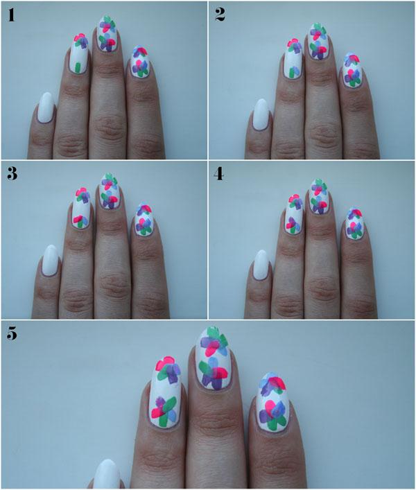 DIY Floral Nail Design Via Poppy Flower Art Tutorial