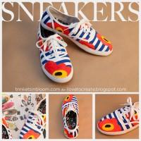 DIY Floral Sneakers