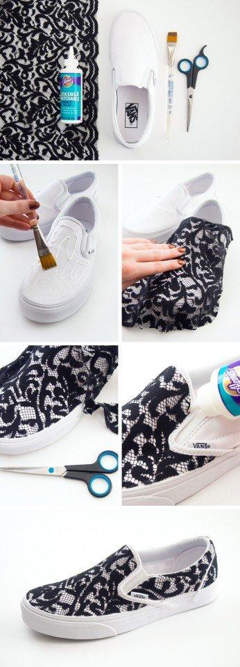 DIY Lace Sneakers