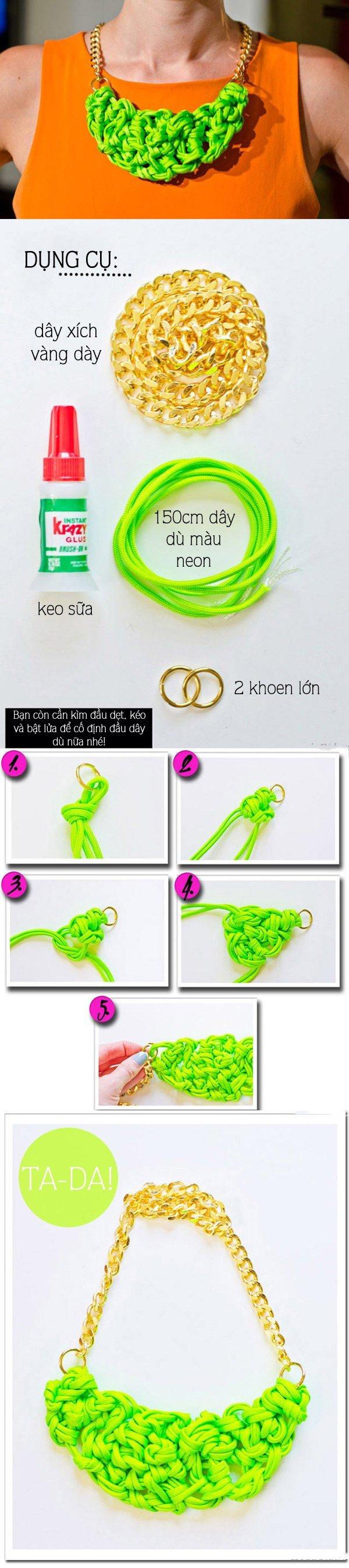 DIY Neon Necklace Tutorial