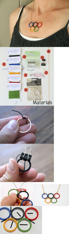 DIY OLIMPICS NECKLACE