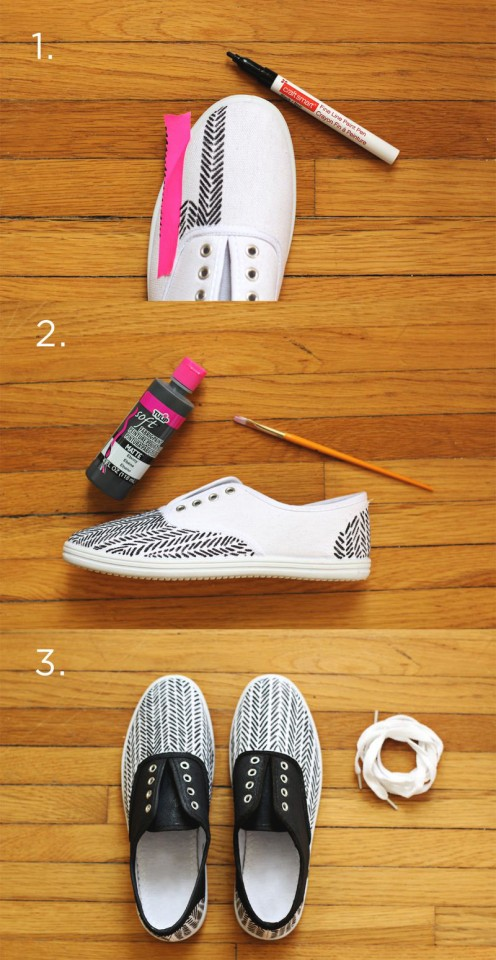 DIY Painted Sneakers