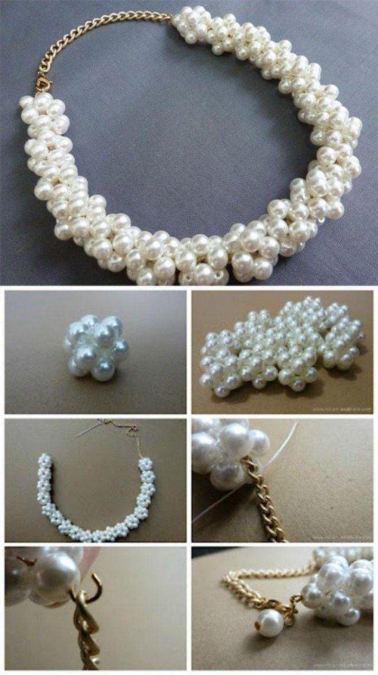 DIY Pearl Necklace Tutorial