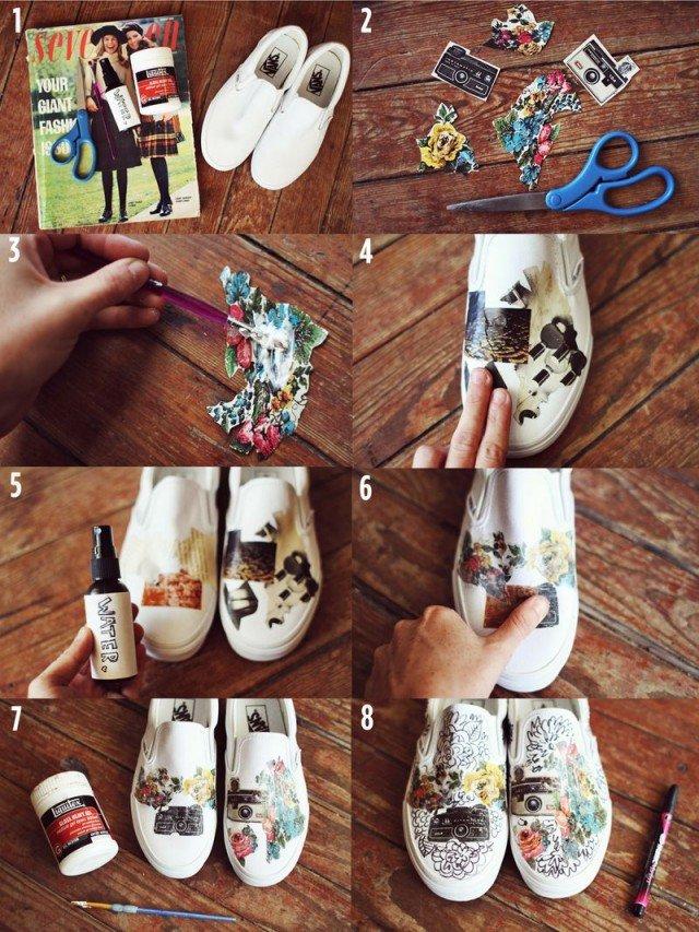 DIY Printed Sneakers