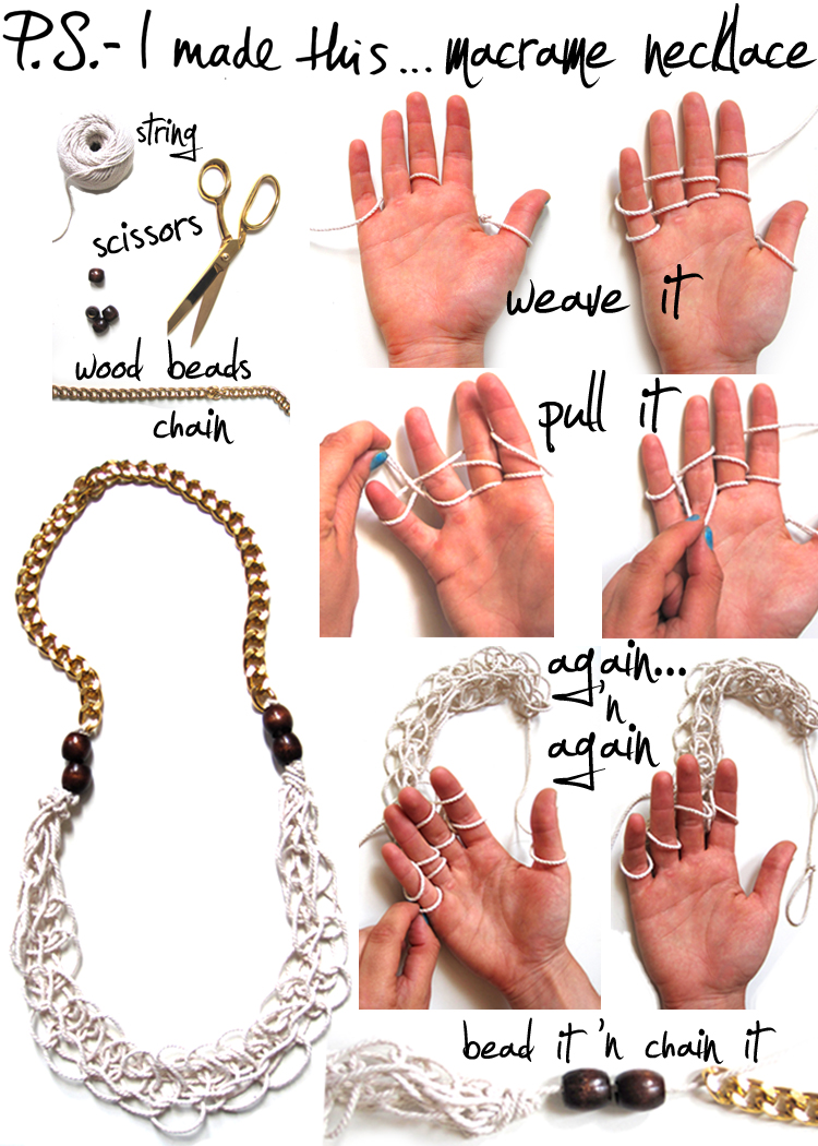 DIY Rope-Chain Necklace