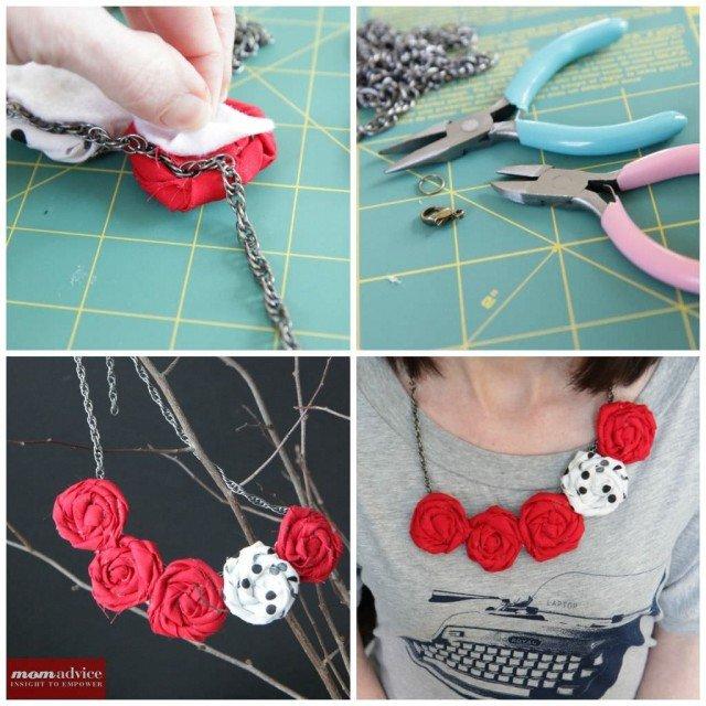 DIY Rosette Bib Necklace Tutorial