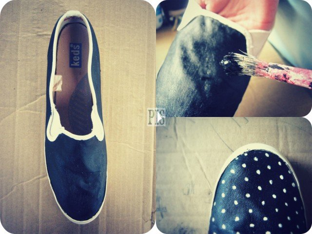 DIY Sneakers With Dots