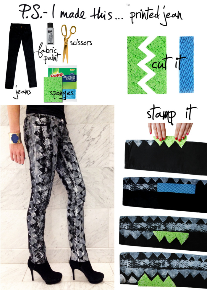 DIY Stamping Jeans