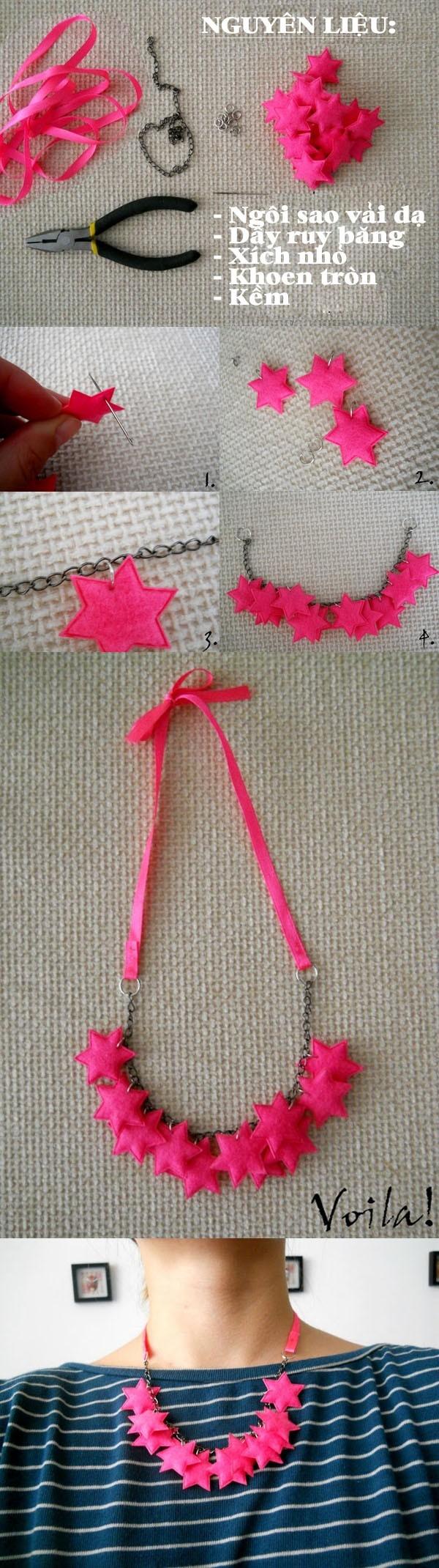 DIY Star Necklace Tutorial