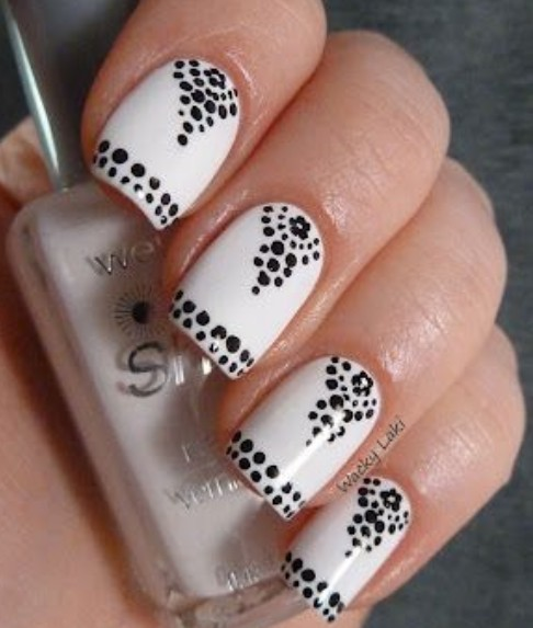 Dot Nails - 15 Easy Black And White Nail Designs For Beginners - Pretty  Designs - - Nail Dot Designs Graham Reid