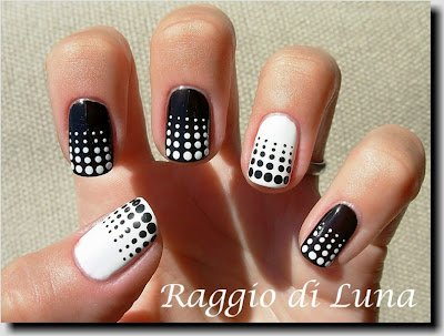 11 classic black and white nail design ideas pretty designs dotted nail art design prinsesfo Choice Image