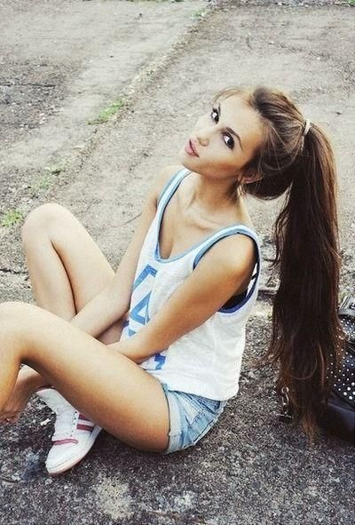 Dreamy Long Ponytail Hairstyle
