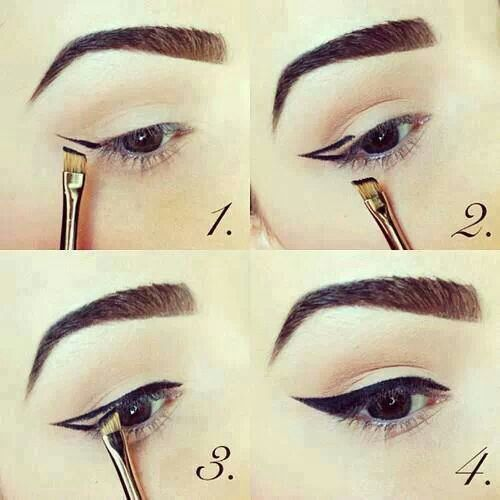 how to draw eyes with makeup