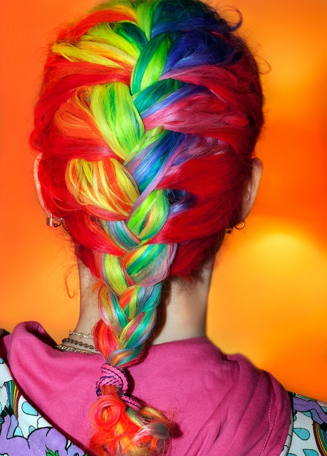 Edgy Rainbow Braids