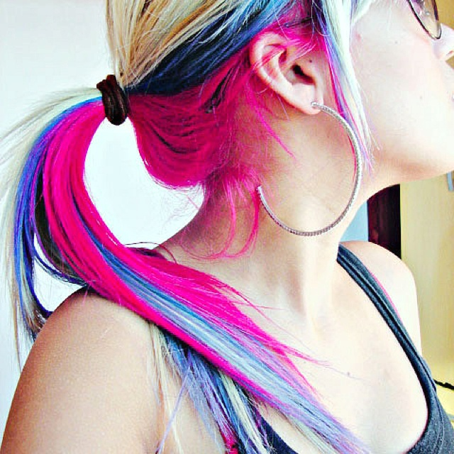 Edgy Rainbow Hair