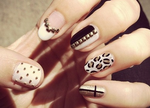 Embellished Nails and Print