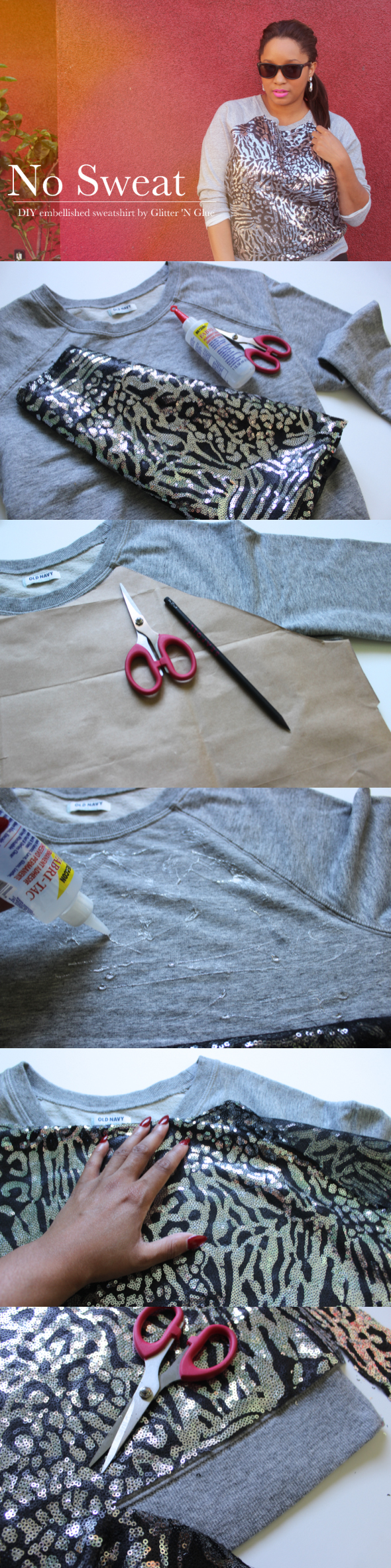 Embellished Sweatshirt DIY