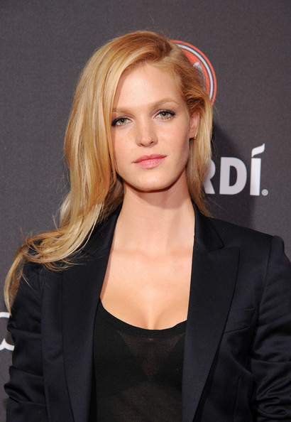 Erin Heatherton Long Side Parted Hairstyle