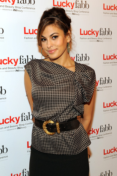 Eva Mendes Top Bun with Headband