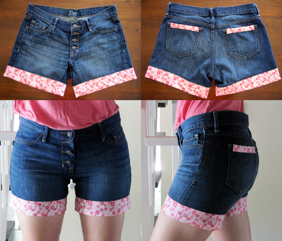 How to Upgrade Your Old Jeans: DIY Jeans Cuffs - Pretty ...