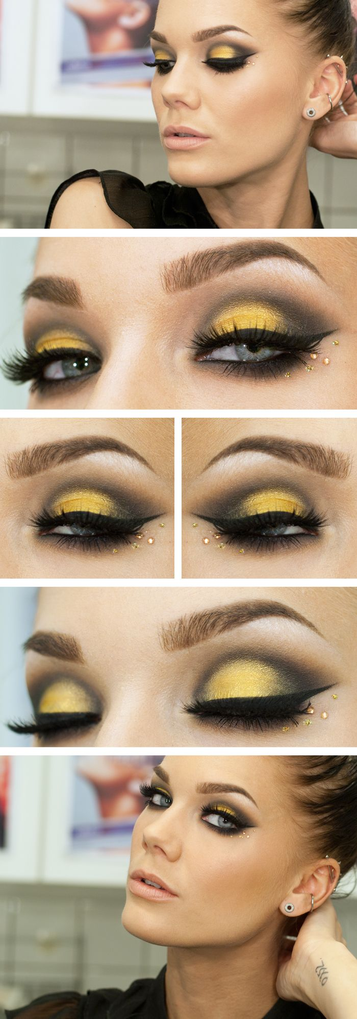 11 everyday makeup tutorials and ideas for women pretty designs faddish yellow eye makeup tutorial baditri Images