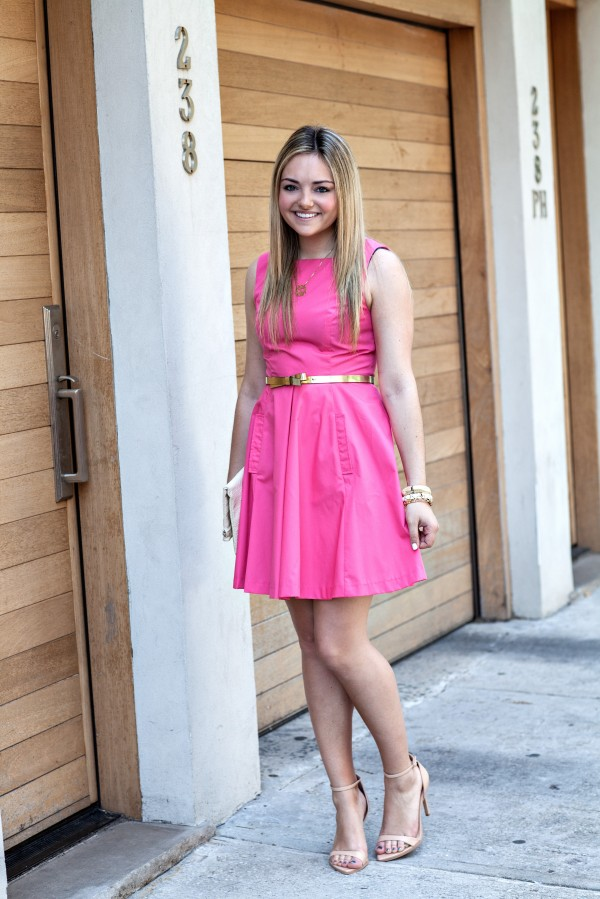 Little Pink Flared Dress