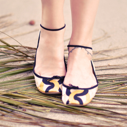 Flats with Ankle Straps