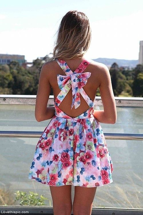 Floral Bow Dress for Summer