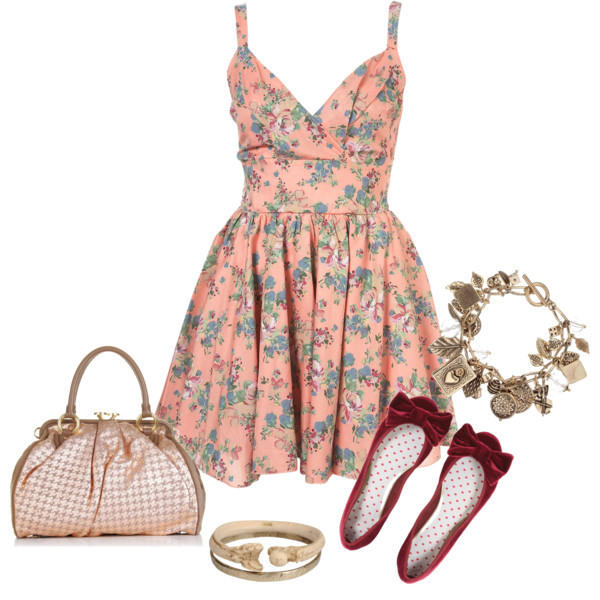 Floral Dress Outfit Idea for Summer