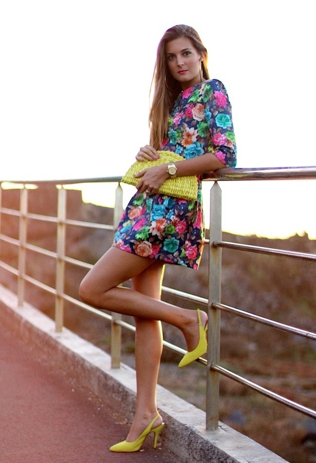 Floral Short Dresses for Spring 2014