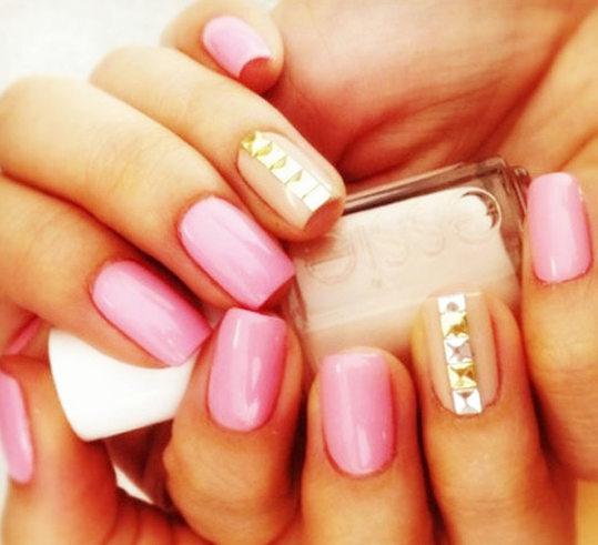 Gentle Embellished Nail Design