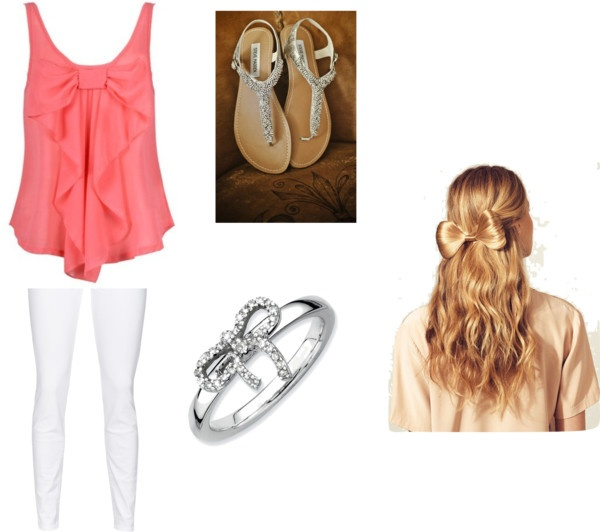Girly Bow Outfit Idea
