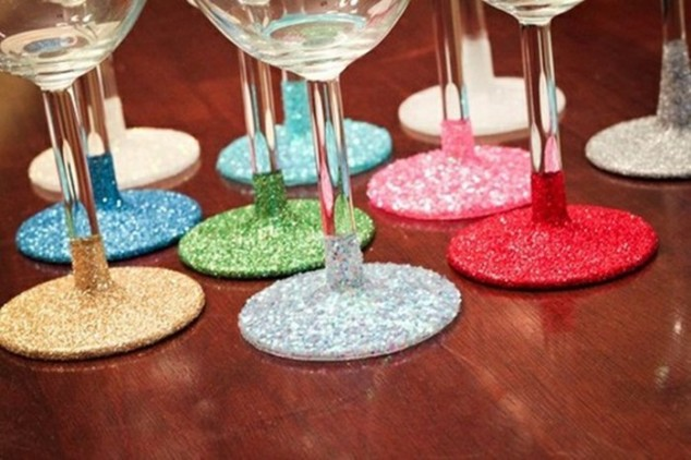 glitter wine glasses - Wine Glass Design Ideas