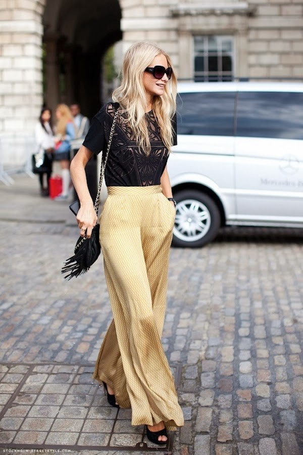 Gold Colored Palazzo Pants