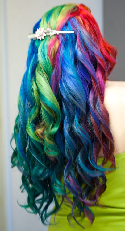 Gorgeous Rainbow Curls