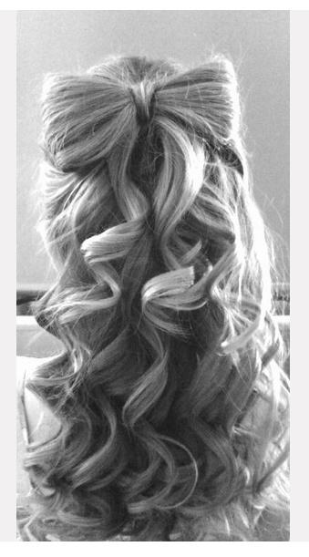 Gorgeous Bow Hairstyle Idea